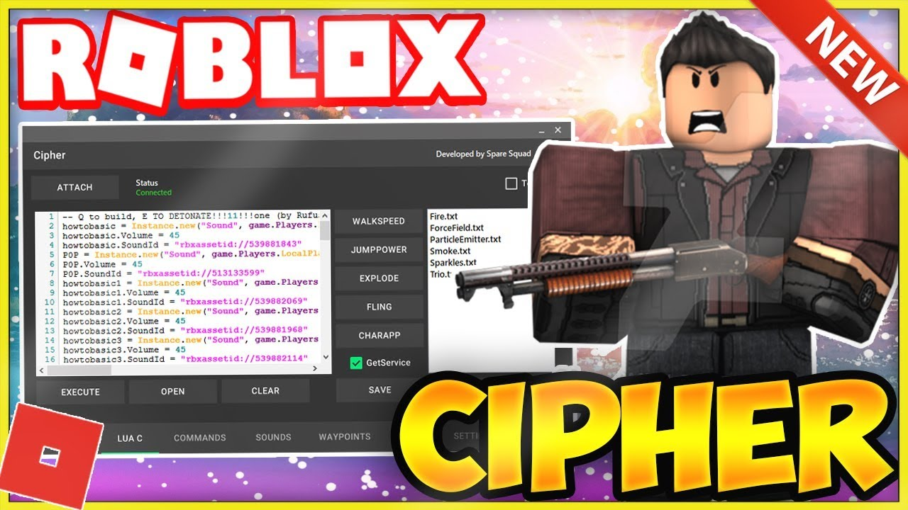 *NEW* ROBLOX EXPLOIT/HACK: CIPHER [WORKS!] SCRIPT EXEC W/ MINING SIM HACK,  HARAMBE, & MORE!