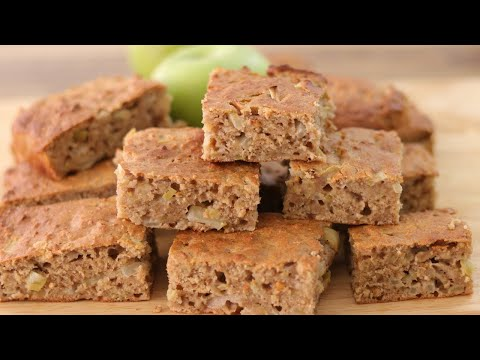 Healthy Apple Oatmeal Snack Cake Recipe