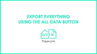 8 Revit to PHPP PassivLink: Exporting all data using the All Data button.
