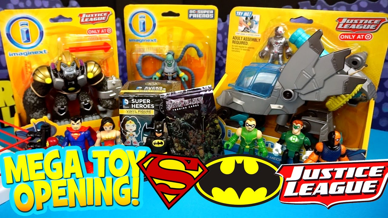 8d018651889 Imaginext Justice League Toys Opening with DC Mystery Minis ...