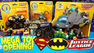 Imaginext Justice League Toys Opening with DC Mystery Minis & Imaginext Batman Toys by KidCity