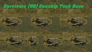 War Commander : Survivors (90) Gunship Tech Base zero repair