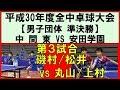 【卓球全中】磯村/松井(中間東)vs丸山/上村(安田学園) 平成30年度全国中学校卓球大会…