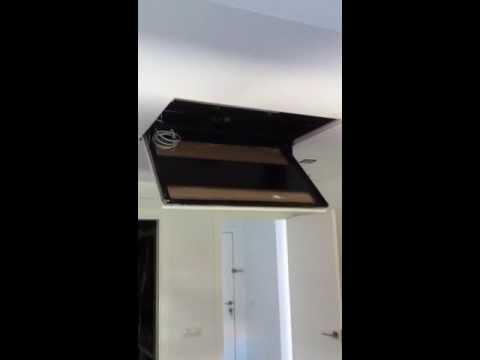 Soporte oculto de television en falso techo youtube - Soportes de tv para techo ...