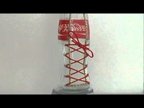 COCA COLA - Pencil Holder - Recycled Glass Bottles Cutting ...