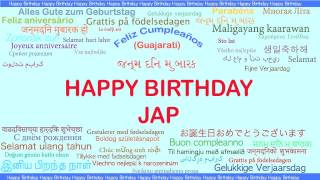 Jap   Languages Idiomas - Happy Birthday