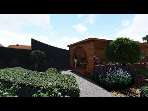Визуализация ландшафтного дизайна Green House (Май 2018г.)