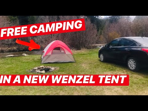 FREE Colorado Camping:   Amazing Views, Fresh Mountain Streams And Trails For Days In A Wenzel Tent