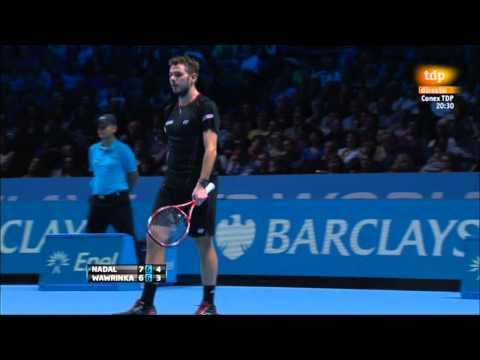 Rafa Nadal vs. Stanislas Wawrinka 7-6(5), 7-6(6) Barclay ATP World Tour Finals 2013