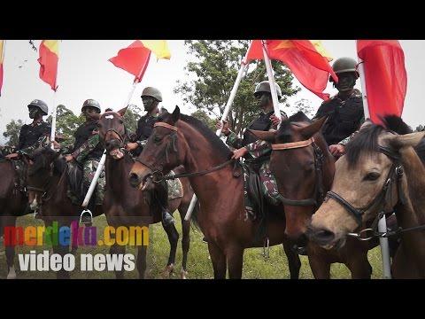 Mengintip latihan perang pasukan berkuda TNI AD