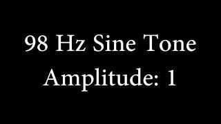 98 Hz Sine Tone Amplitude 1