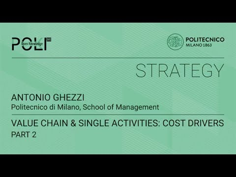 Value chain & single activities: cost drivers - part 2 (Antonio Ghezzi)