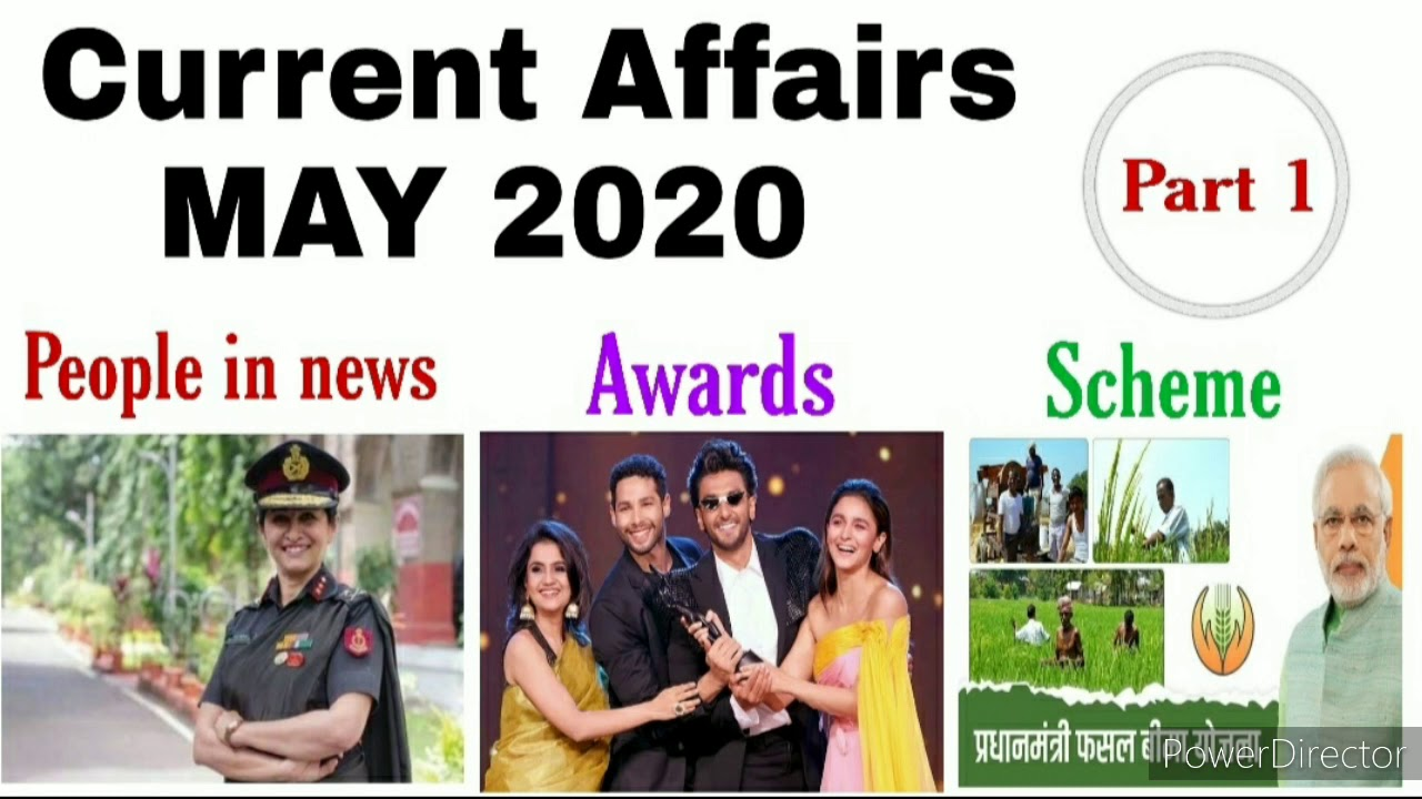 May 2020 Important Current affairs PART 1 for all competitive exams UP PCS