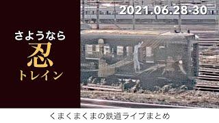【ライブダイジェスト】2021.06.28-30|相鉄甲種、さよなら忍トレインなど
