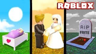 COME INTO THE WORLD GROWING UP AND GETTING MARRIED! Roblox Growing Old - Die