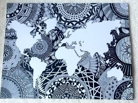 [Speed Drawing] Ma Map Monde Zentangle