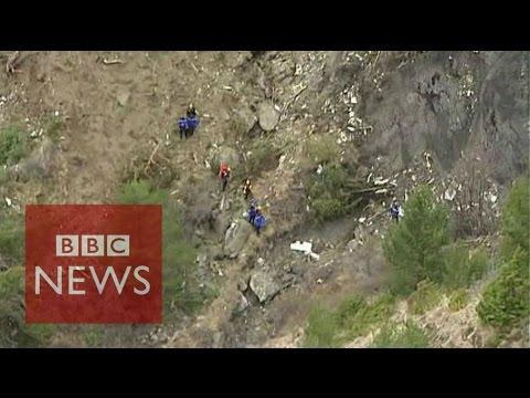 Germanwings plane crash site in aerial video - BBC News