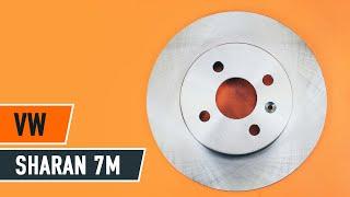 Kā nomainīt Aizmugures bremžu kluči, Aizmugures bremžu diski VW SHARAN 7M [Pamācība]