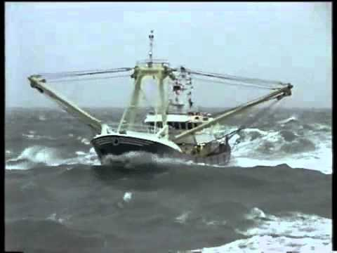 NG1 Jurie van den Berg sailing home in heavy weather