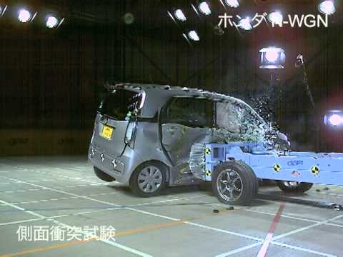 自動車アセスメント:ホンダN-WGN:側面衝突試験