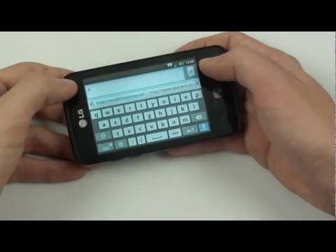 LG Optimus Hub - internetový prohlížeč