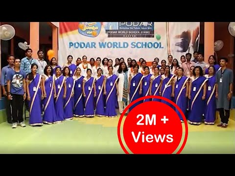 National Anthem by Podar World School and Jumbo Kids