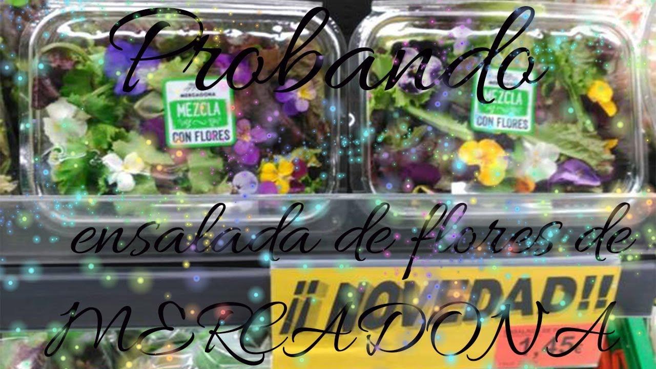 Novedad Mercadona Probando Ensalada De Flores Youtube