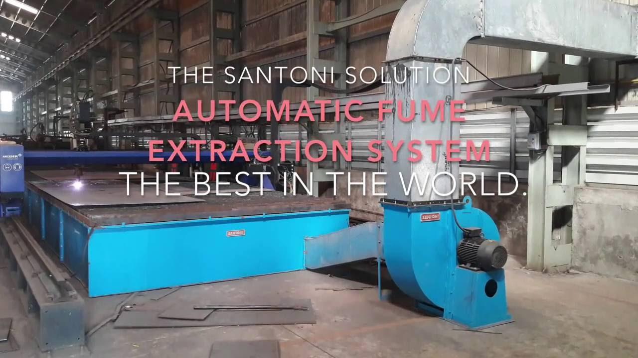 Fume Extraction System Cnc Plasma Cutting Santoni