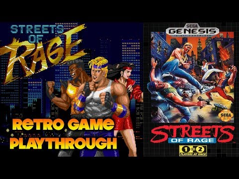 Retro Game Playthrough: Sega Genesis Streets of Rage (1991) longplay with commentary thumbnail