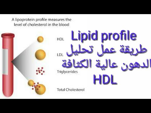 تعليم التحاليل الطبية للمبتدئين. تحليل الدهون Lipid profile  .#3# Hdl