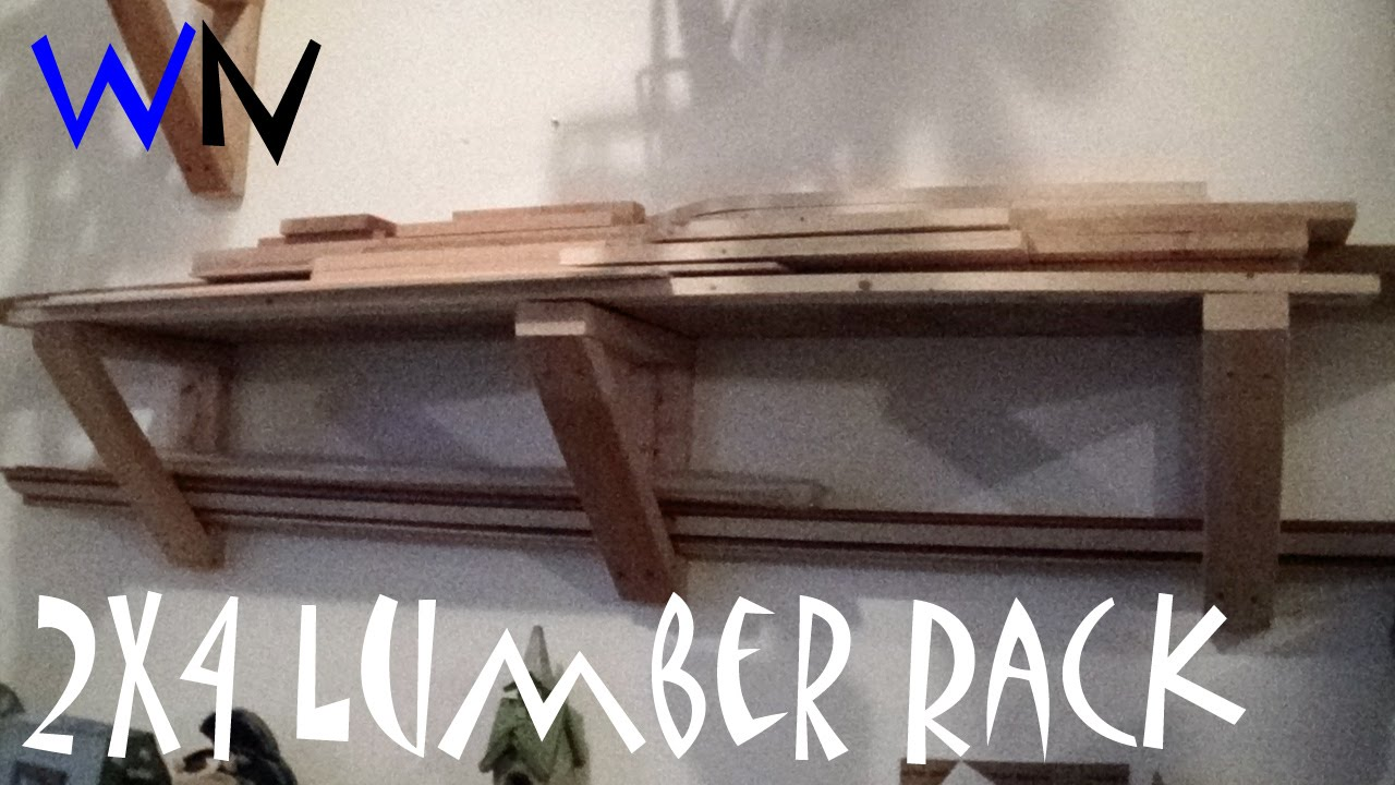 Build A Simple 2x4 Lumber Rack | Highly Customizable!   YouTube