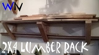 Build A Simple 2x4 Lumber Rack | Highly Customizable!