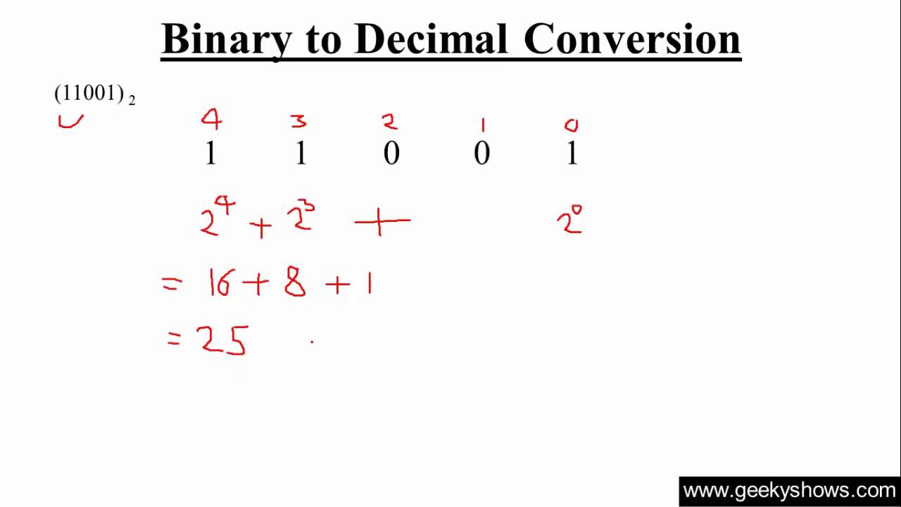 Binary To Decimal Conversion Hindi