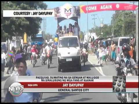 People's Champ Manny Pacquiao arrives in General Santos City, Jay Dayupay reports