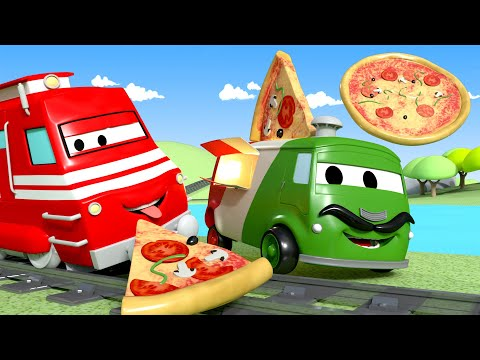 Troy o Trem  Carlo, o pizzaiolo, faz pizza para uma festa!  Cidade do Trem 🚄 Desenhos animados