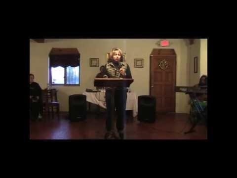 Apostle Eva Gonzalez Preaching God's Word