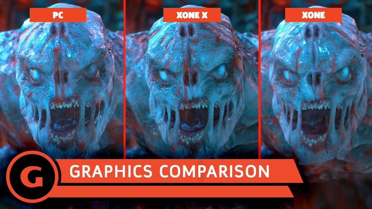 xbox one x vs pc vs xbox one graphics comparison youtube