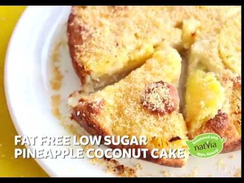 Fat Free Low Sugar Pineapple Coconut Cake