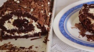 Buche chocolat et créme mascarpone