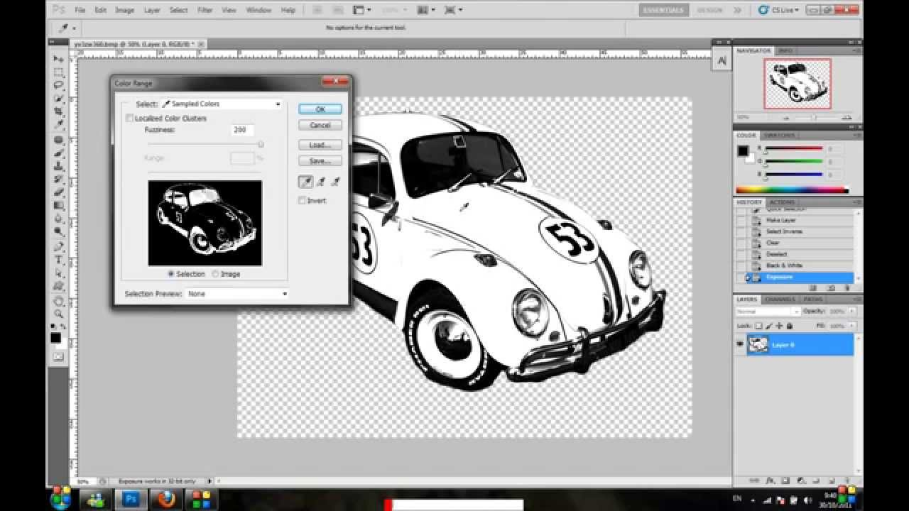 how to convert jpeg image to shape in photoshop CS5 VERY EASY ...