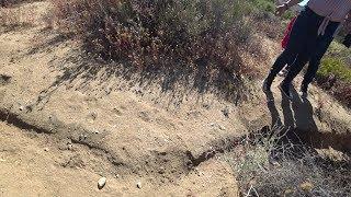 Falla de San Andrés en desierto de California