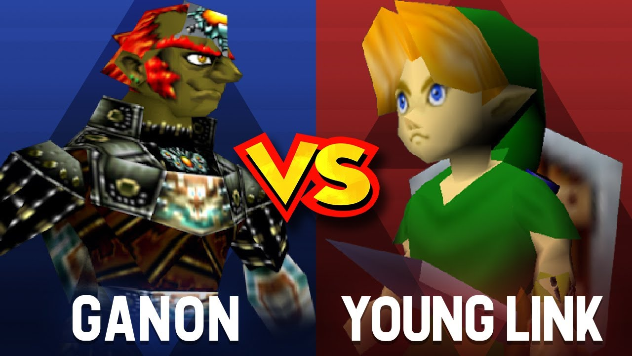 Download What happens if YOUNG LINK fights against GANONDORF in Smash Bros 64   8K #smashbros64