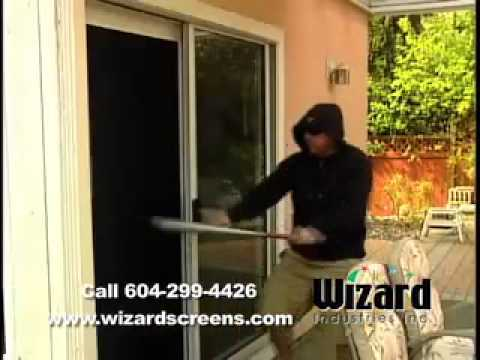 Security Screen Door. Screen Door Can Keep Prevent Break And Enters.