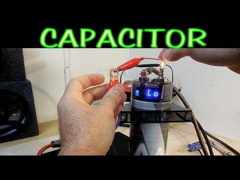 Como cargar y descargar un capacitor para amplificador de auto