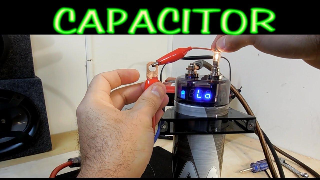 Como Cargar Y Descargar Un Capacitor Para Amplificador De Auto Youtube