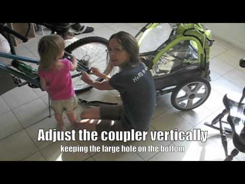 hqdefault how to attach an instep bicycle trailer youtube  at panicattacktreatment.co