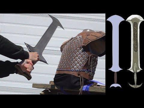 Fire Emblem Sword vs. Fantasy Studded Leather Armor and Ballistic Gel Torso
