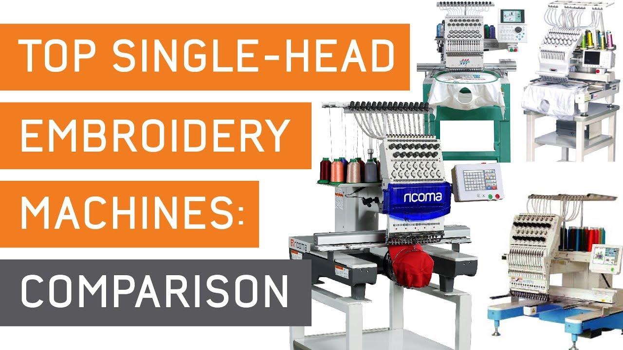 Best Commercial Embroidery Machine Comparison Single Head Ricoma