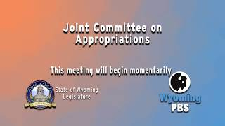 Wyoming Legislative Joint Committee on Appropriations 2019, Day 1
