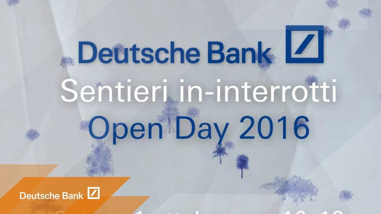 Deutsche Bank Piazza Del Calendario Milano.Deutsche Bank Open Day 2016